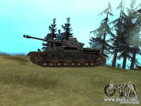 Pzkpfw IV for GTA San Andreas back left view