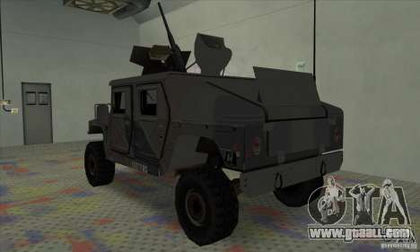 Humvee of Mexican Army for GTA San Andreas right view