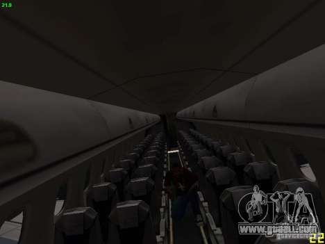 Embraer ERJ 190 USAirways for GTA San Andreas inner view