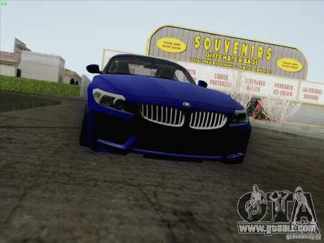 BMW Z4 2011 for GTA San Andreas back left view