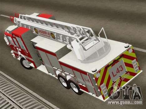 Pierce Arrow LAFD Ladder 43 for GTA San Andreas inner view