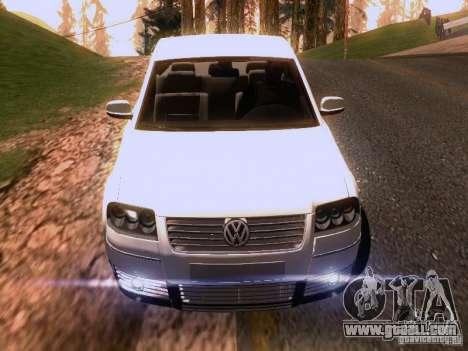 Volkswagen Passat B5+ for GTA San Andreas wheels