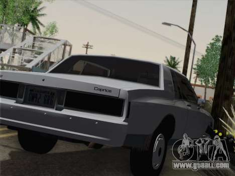 Chevrolet Caprice 1986 for GTA San Andreas back view