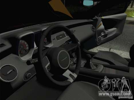 Chevrolet Camaro SS 2012 for GTA San Andreas back view