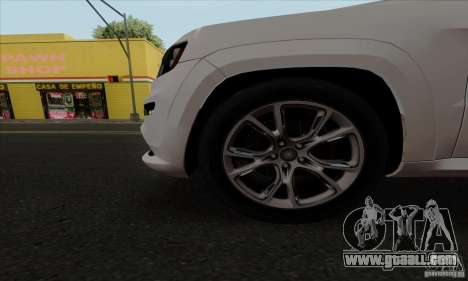 Jeep Grand Cherokee SRT-8 2013 for GTA San Andreas back view