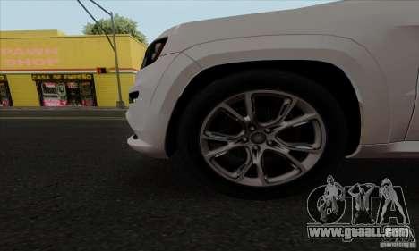 Jeep Grand Cherokee SRT-8 2013 for GTA San Andreas back view