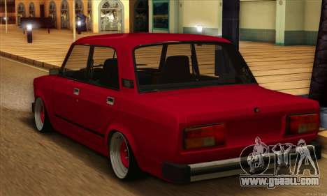 VAZ 2105 Cherry Pie for GTA San Andreas back left view