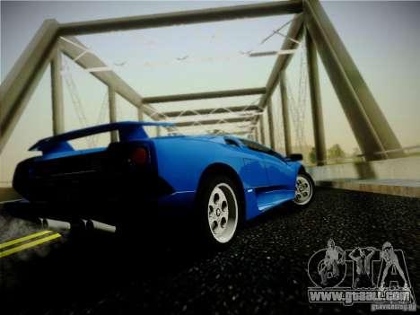 Lamborghini Diablo VT 1994 for GTA San Andreas back left view