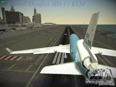 McDonnell Douglas MD-11 KLM Royal Dutch Airlines for GTA San Andreas right view