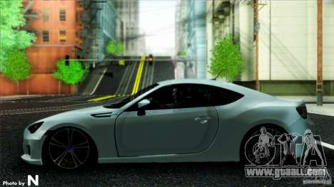 Subaru BRZ v2 for GTA San Andreas back left view