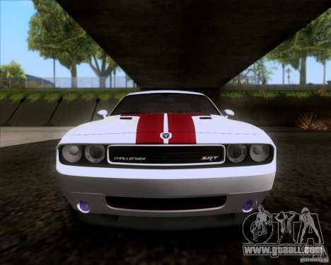 Dodge Challenger SRT8 2009 for GTA San Andreas inner view