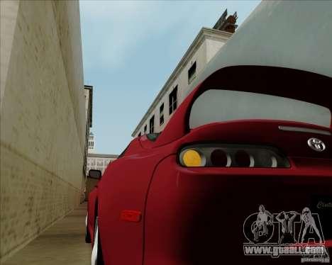 Toyota Supra RZ 98 Twin Turbo for GTA San Andreas back view