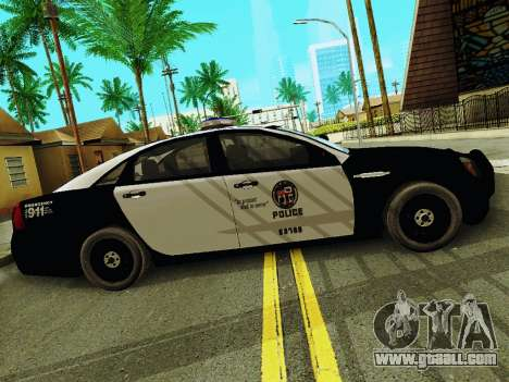 Chevrolet Caprice 2011 Police for GTA San Andreas left view