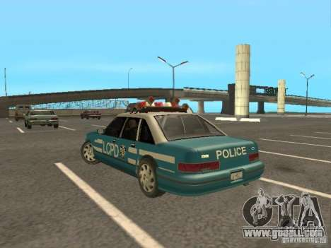 HD Police from GTA 3 for GTA San Andreas back left view