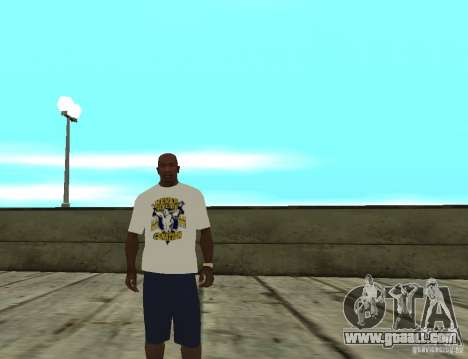 WWE John Cena t shirt for GTA San Andreas