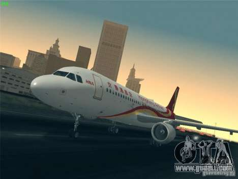 Airbus A320-214 Hong Kong Airlines for GTA San Andreas bottom view