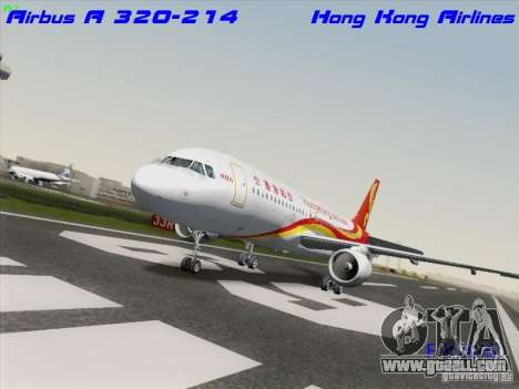 Airbus A320-214 Hong Kong Airlines for GTA San Andreas