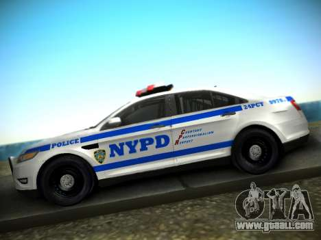 Ford Taurus NYPD 2011 for GTA San Andreas right view