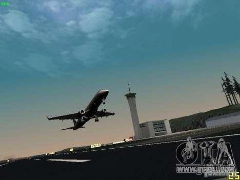 Embraer ERJ 190 USAirways for GTA San Andreas back view