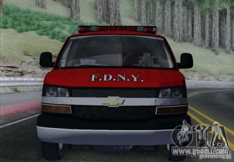Chevrolet Express Special Operations Command for GTA San Andreas upper view