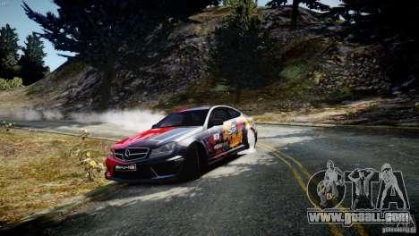 Mercedes Benz C63 AMG SAIBON Paint Job for GTA 4 left view
