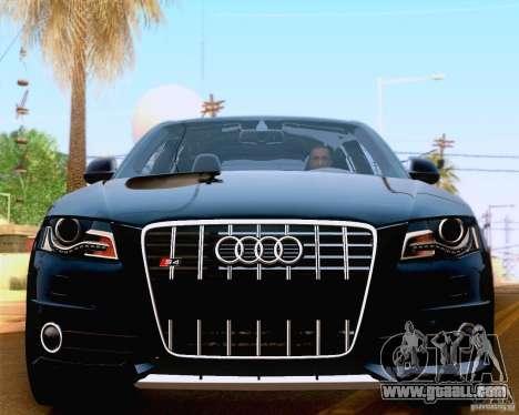 Audi S4 2010 for GTA San Andreas inner view