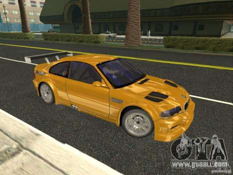 BMW M3 GTR of NFS Most Wanted for GTA San Andreas left view