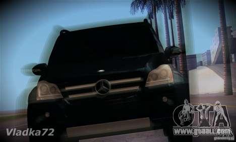 Mercedes-Benz GL500 V.2 for GTA San Andreas back view