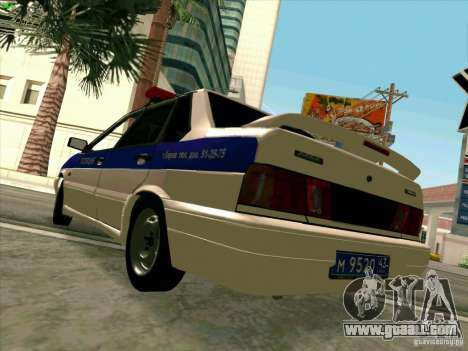 VAZ 2115 Police for GTA San Andreas right view