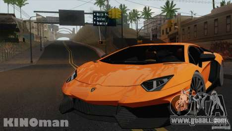 Lamborghini Aventador LP 700-4 for GTA San Andreas back left view