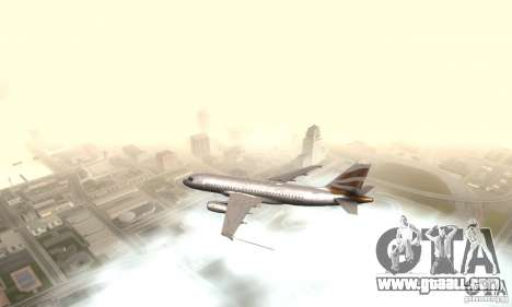 Airbus A319 British Airways Olympic Dove for GTA San Andreas left view