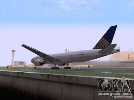 Boeing 777-200 United Airlines for GTA San Andreas inner view