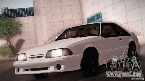 Ford Mustang SVT Cobra 1993 for GTA San Andreas upper view