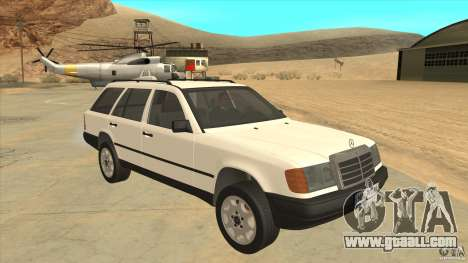 Mercedes Benz E-Class W124 for GTA San Andreas back view