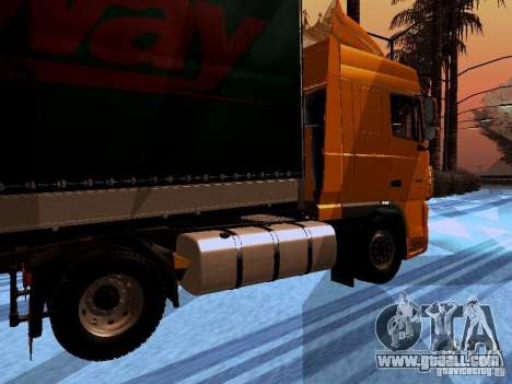 DAF XF105 for GTA San Andreas back left view