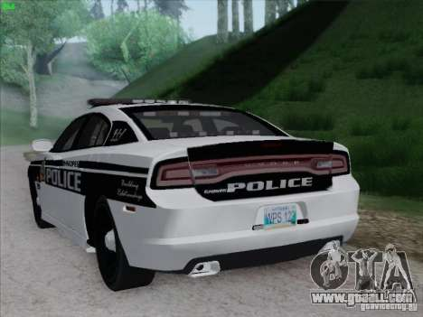 Dodge Charger 2012 Police for GTA San Andreas right view