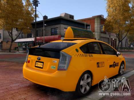Toyota Prius NYC Taxi 2013 for GTA 4 right view