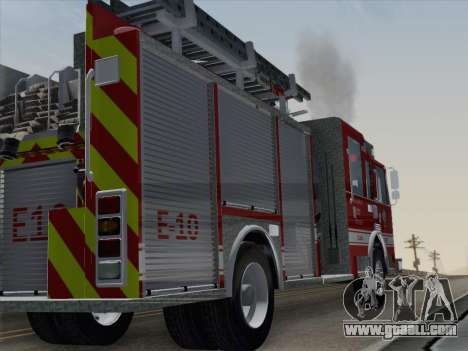 Pierce Saber LAFD Engine 10 for GTA San Andreas right view