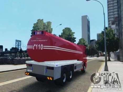 Mercedes-Benz Vanntankbil / Water Tanker for GTA 4 back left view