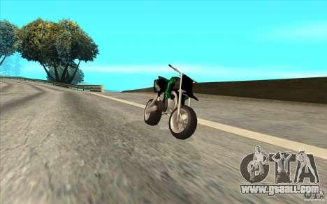Black Rockstar Moto Cross for GTA San Andreas