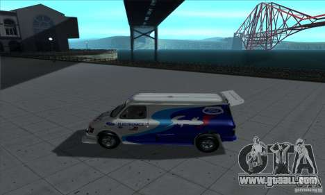 Ford Transit Supervan 3 2004 for GTA San Andreas back left view