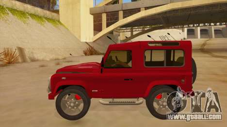 Land Rover Defender for GTA San Andreas left view