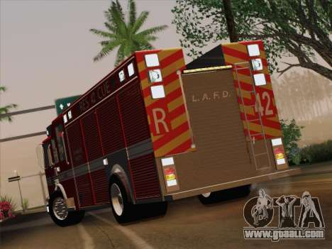 Pierce Contender LAFD Rescue 42 for GTA San Andreas inner view