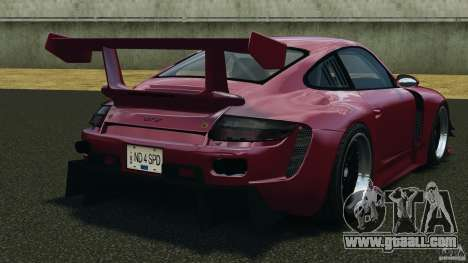 Porsche 997 GT2 Body Kit 2 for GTA 4 back left view