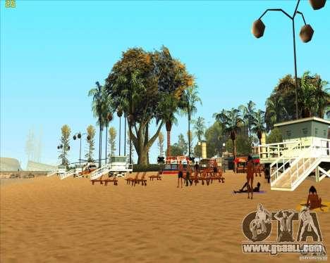 Modern beach in Los-Santos for GTA San Andreas second screenshot