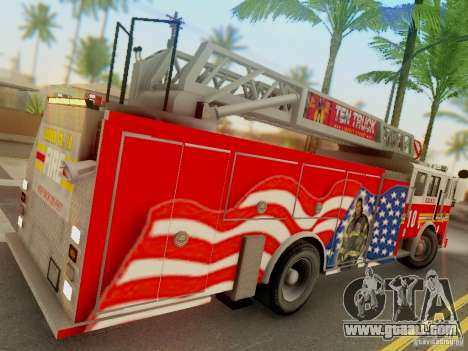 Seagrave FDNY Ladder 10 for GTA San Andreas right view
