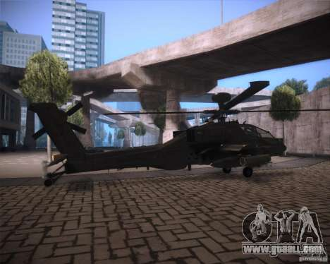 AH-64D Longbow Apache for GTA San Andreas back view