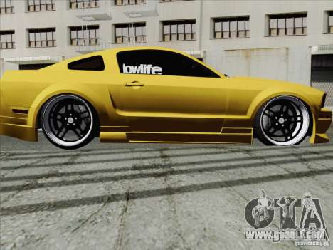 Ford Mustang GT Lowlife for GTA San Andreas right view