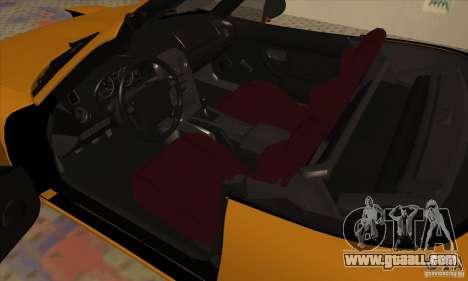Mazda MX-5 for GTA San Andreas back view