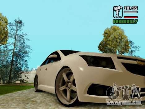 Chevrolet Cruze for GTA San Andreas inner view